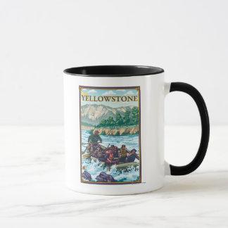 Mug L'eau blanche transportant par radeau -