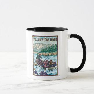 Mug L'eau blanche transportant par radeau - la rivière