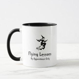 Mug Leçons de vol de manche à balai de sorcière