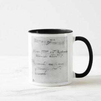 Mug L'écriture de Leonardo da Vinci