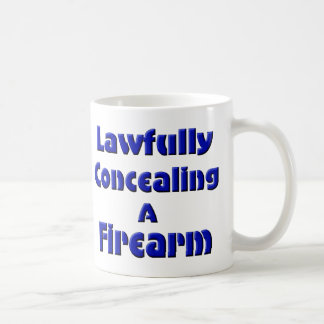 Mug Légalement dissimulation d'une arme à feu