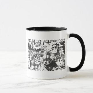 Mug Légendes urbaines de Batman - motif BW de croisé