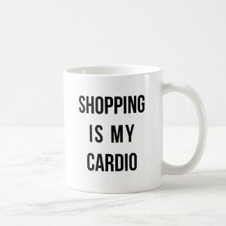 Mug Les achats sont mon cardio- sur le blanc