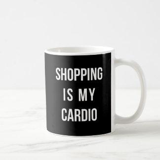 Mug Les achats sont mon cardio- sur le noir