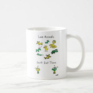 Mug Les animaux de l'amour de Moby, ne les mangent pas