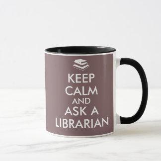 Mug Les cadeaux de bibliothécaire gardent le calme
