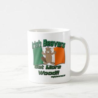 Mug Les castors irlandais deviennent plus en bois