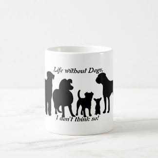 Mug Les chiens multiplient la silhouette noire de