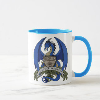 Mug Les dragons de Stonefire Crest (dragon bleu) la