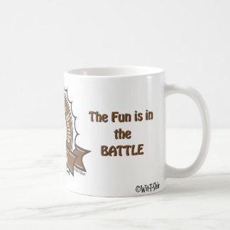 Mug Les échecs, l'amusement sont dans la bataille,