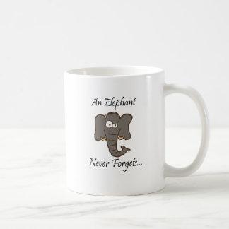 Mug Les éléphants n'oublient jamais