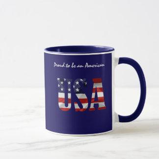 Mug Les Etats-Unis fiers pour être un Américain