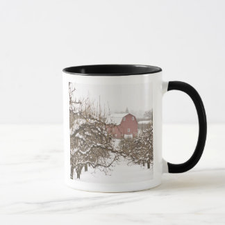 Mug Les Etats-Unis, Orégon, la rivière Hood. La neige