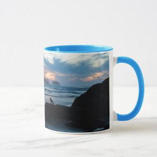 Mug Les Etats-Unis, Orégon, plage de Bandon. Mouette