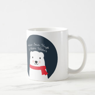 Mug Les étreintes d'ours blanc et chauffent des