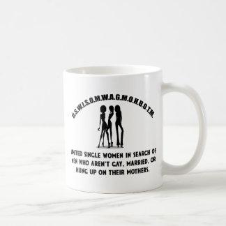 Mug Les femmes célibataires unies - choisit la chemise