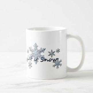 Mug Les flocons de neige d'hiver l'ont laissé neiger