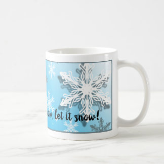 Mug Les flocons de neige glacials d'hiver l'ont laissé