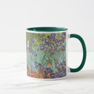 Mug Les iris par Vincent van Gogh, cru fleurit l'art