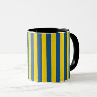 Mug Les lignes de rayures de drapeau de la Suède