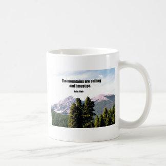 Mug Les montagnes appellent et je dois aller