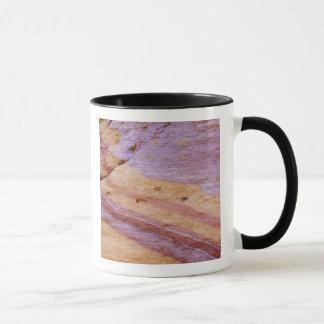 Mug Les oxydes de fer colorent une formation de grès