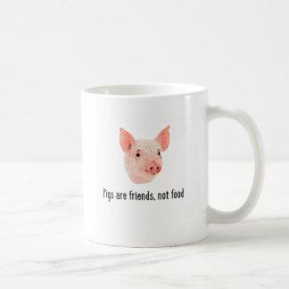 Mug Les porcs sont des amis, pas conception de
