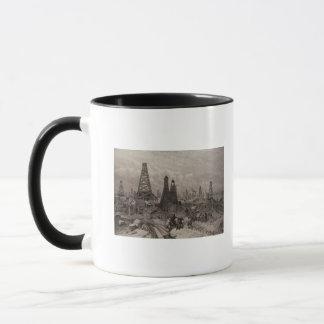 Mug Les puits de pétrole de pétrole à Bakou sur le