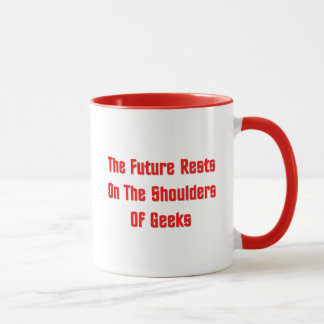 Mug Les repos d'avenir sur les épaules du geeks