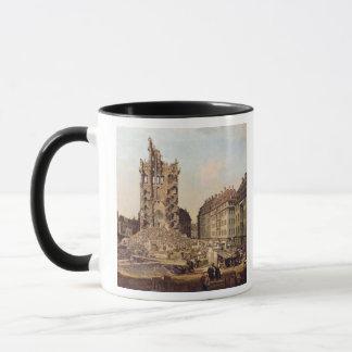 Mug Les ruines du vieux Kreuzkirche, Dresde