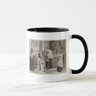 Mug Les sept sacrements : Communion, 1779 (stylo, brun