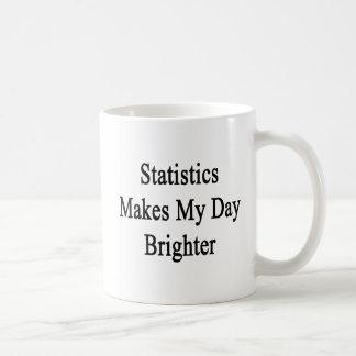 Mug Les statistiques rend mon jour plus lumineux