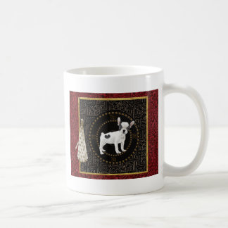 Mug Les terriers de Jack Russell, forme ronde, signent