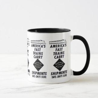 Mug Les trains rapides de l'Amérique portent l'express