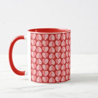 Mug Les Valentines ont tacheté deux coeurs de ton