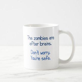 Mug Les zombis sont après des cerveaux