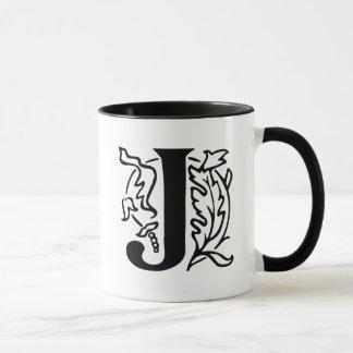 Mug Lettre de fantaisie J