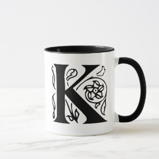 Mug Lettre de fantaisie K