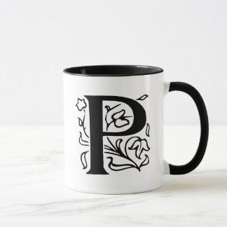 Mug Lettre de fantaisie P