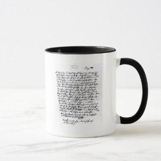 Mug Lettre de Mozart à son père, le 5 avril