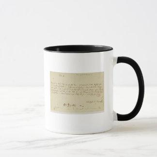 Mug Lettre de Mozart à un franc-maçon, janvier 1786