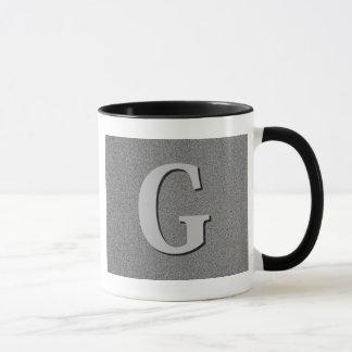 Mug Lettre G de monogramme