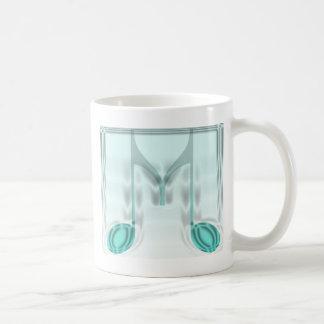 """Mug Lettre musicale de """"M"""""""