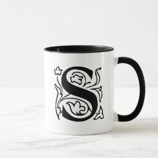 Mug Lettre S de fantaisie