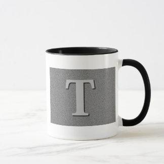 Mug Lettre T de monogramme