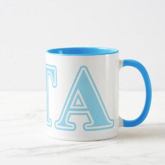 Mug Lettres de bleus layette de Tau de Zeta alpha