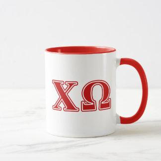 Mug Lettres de rouge d'Omega de Chi