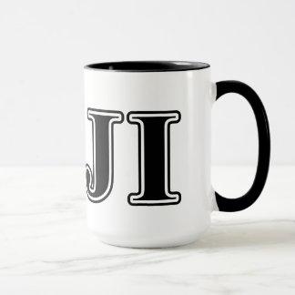 Mug Lettres noires de delta gamma de phi