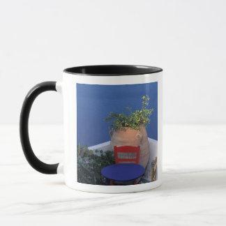 Mug L'Europe, Grèce, Santorini. Terrasse avec la vue