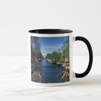 Mug L'Europe, Hollande, Amsterdam, bicyclette jaune et
